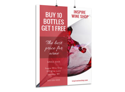 Promotional Wine Sale Poster Template preview
