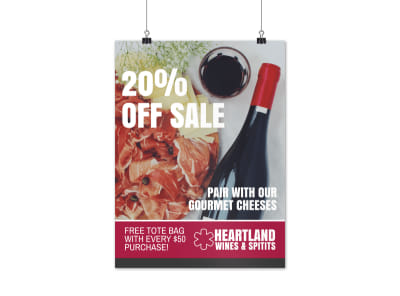 Wine & Spirits Sale Poster Template