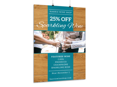 Wine Sale Poster Template preview