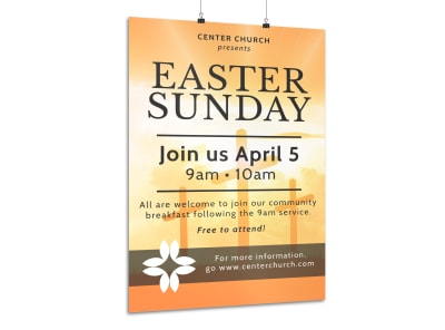 Easter Sunday Poster Template preview