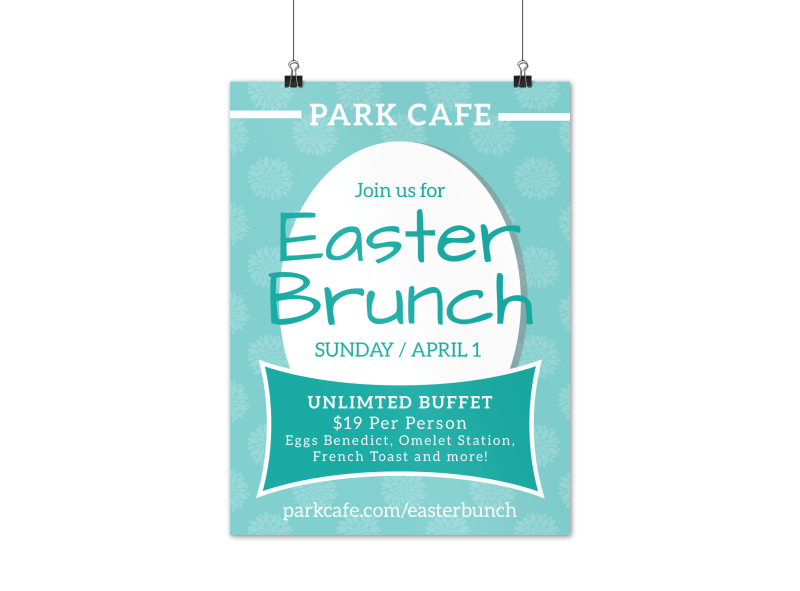 Easter Brunch Poster Template Preview 1