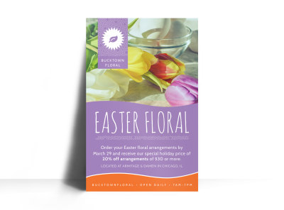 Easter Floral Poster Template preview