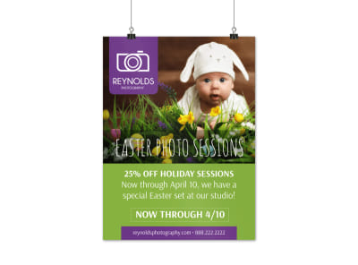 Easter Photo Sessions Poster Template preview