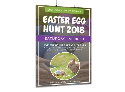 Easter Egg Hunt Poster Template preview