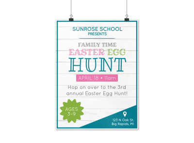 Family Easter Egg Hunt Poster Template preview