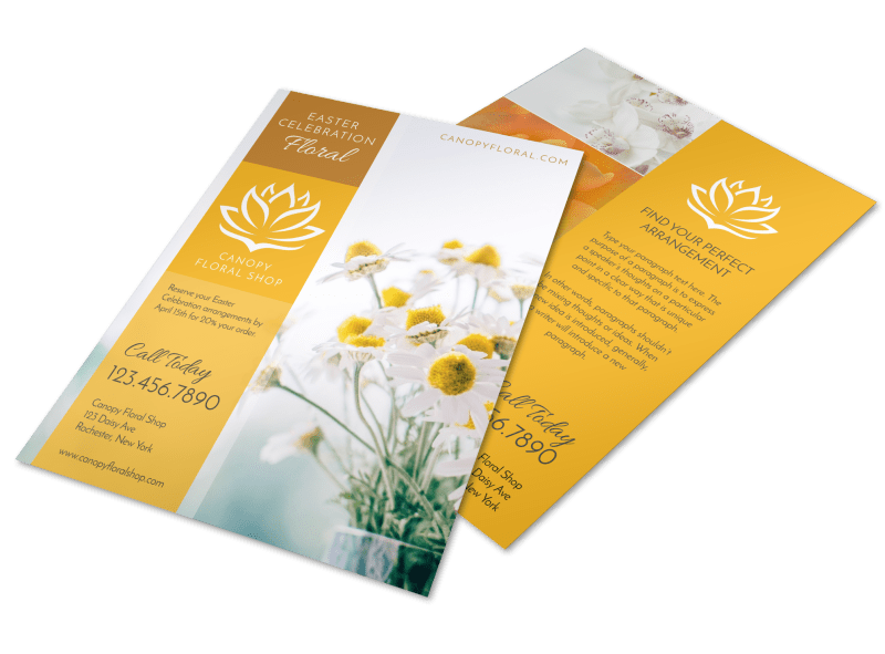Easter Floral Flyer Template