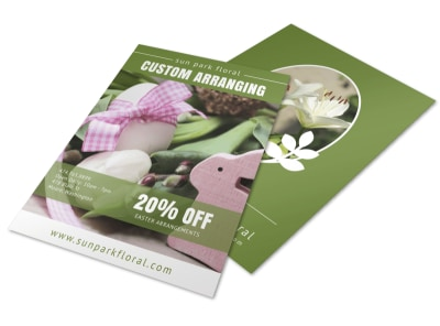 Easter Arrangement Service Flyer Template preview