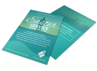 Easter Church Service Flyer xrsz26zu5d preview