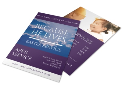 Church Easter Service Flyer Template preview