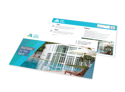 Beautiful Real Estate EDDM Postcard Template preview