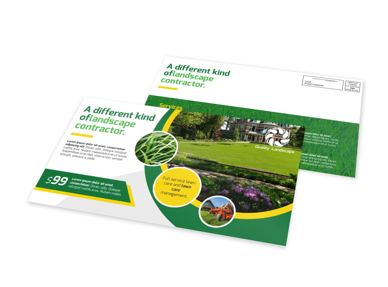 Landscaping Contractor EDDM Postcard Template
