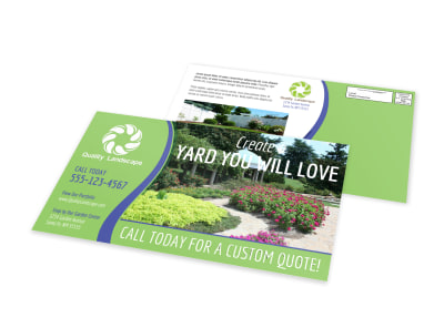 Landscaping EDDM Postcard Template preview