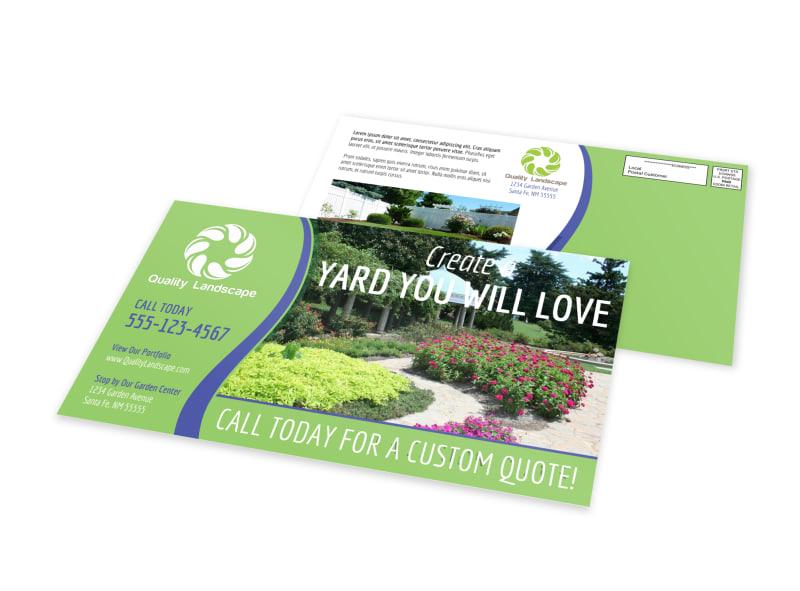 Landscaping EDDM Postcard Template