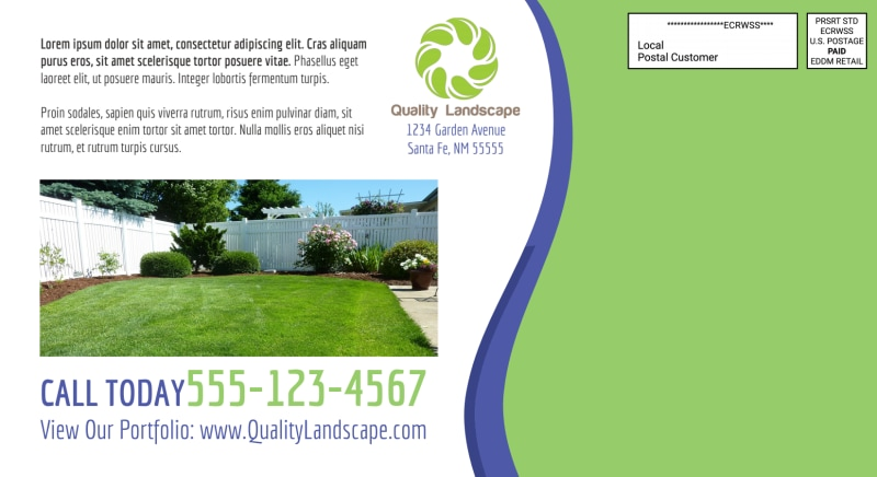 Landscaping EDDM Postcard Template Preview 3