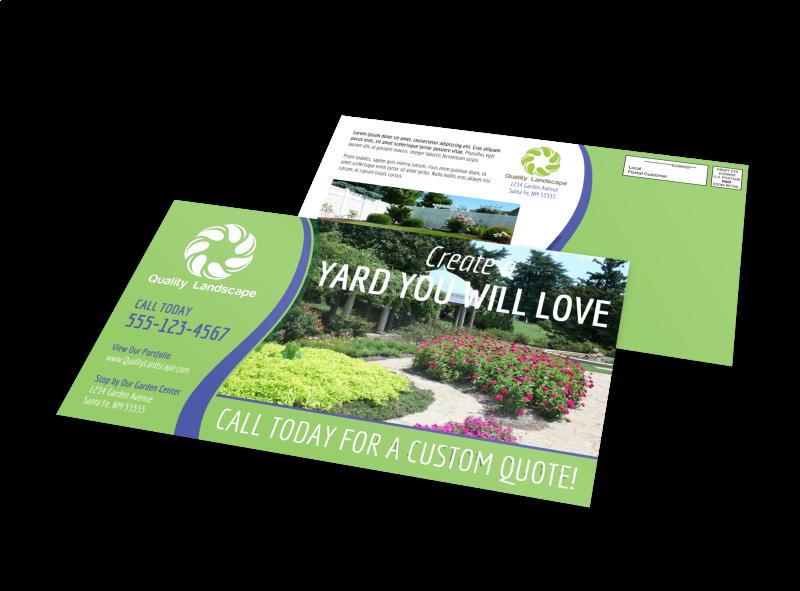 Landscaping EDDM Postcard Template Preview 1