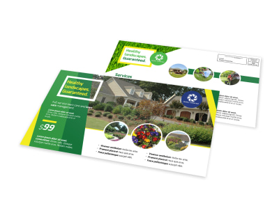 Professional Landscaping EDDM Postcard Template preview