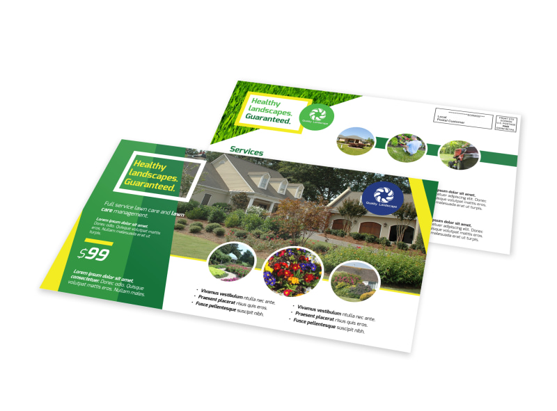 Professional Landscaping EDDM Postcard Template