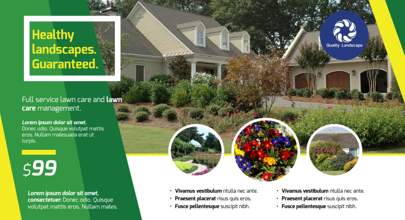 Professional Landscaping EDDM Postcard Template Preview 2
