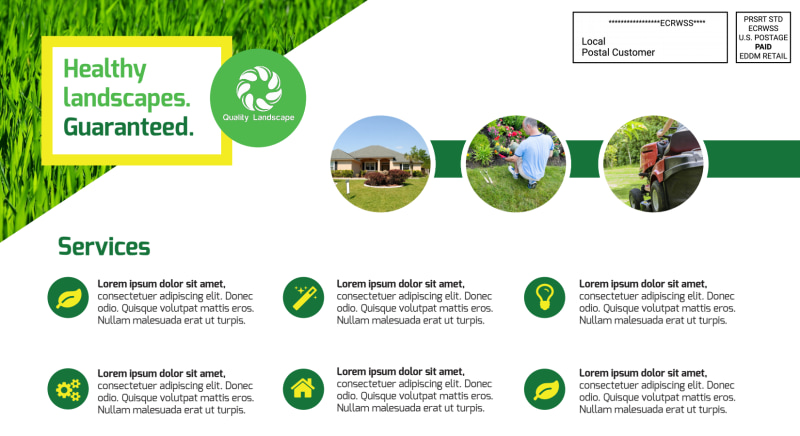 Professional Landscaping EDDM Postcard Template Preview 3