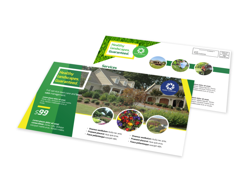 Professional Landscaping EDDM Postcard Template Preview 1