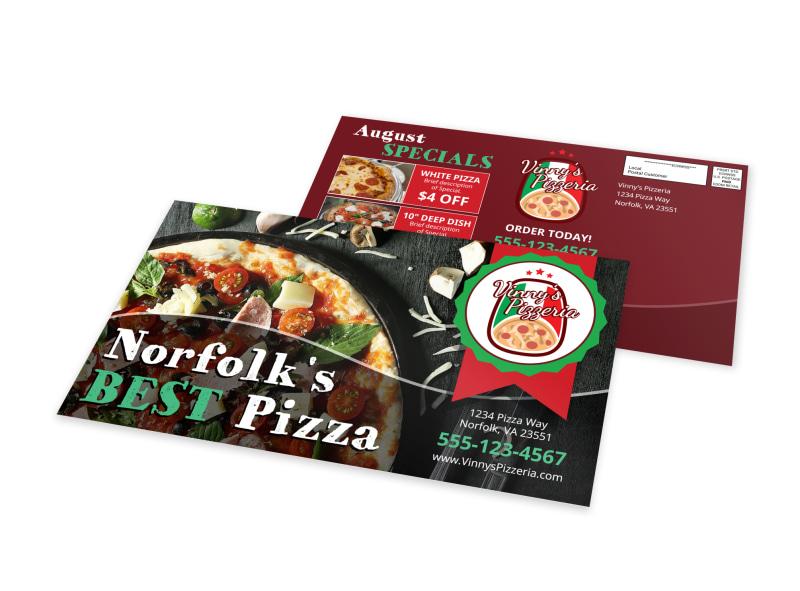 Best Pizza Restaurant EDDM Postcard Template