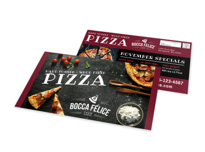 Awesome Pizza Restaurant EDDM Postcard Template preview