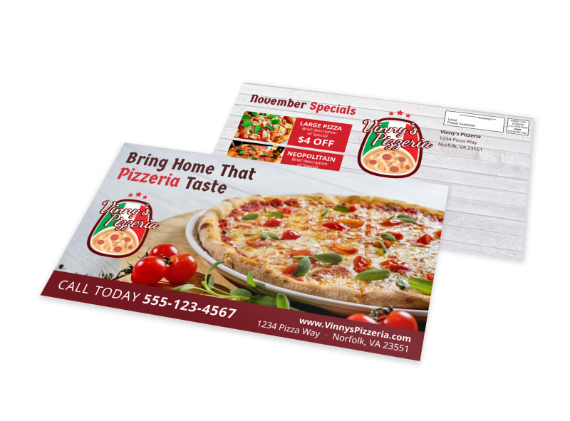 Pizzeria EDDM Postcard Template