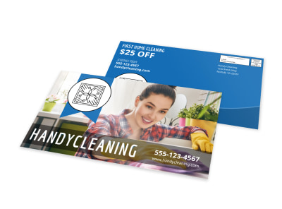 Handy Cleaning Business EDDM Postcard Template preview