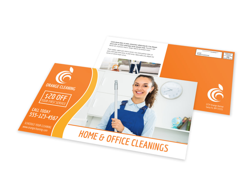Home Cleaning Business EDDM Postcard Template