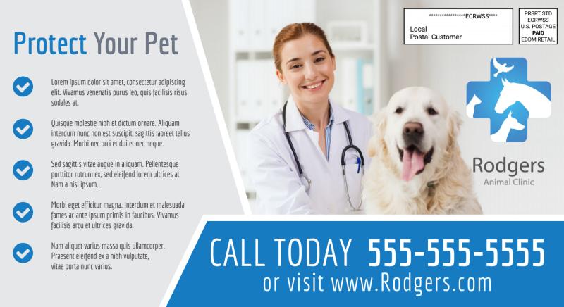 Healthy Pet Vet Service EDDM Postcard Template Preview 3