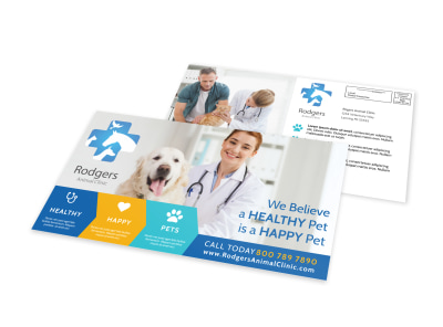 Vet Service EDDM Postcard Template preview