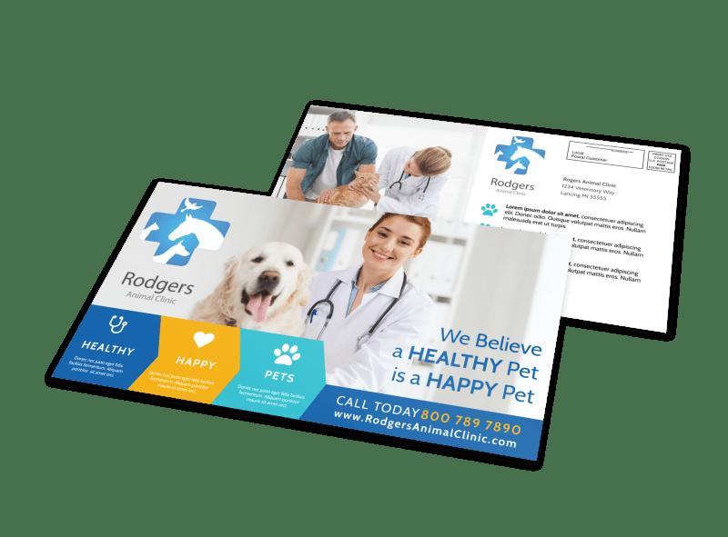 Vet Service EDDM Postcard Template Preview 1