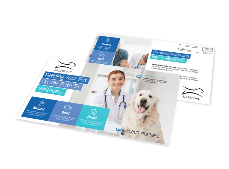 Awesome Veterinary EDDM Postcard Template Preview 1