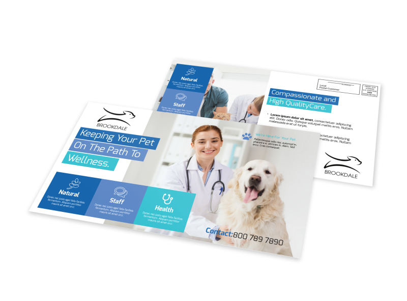 Awesome Veterinary EDDM Postcard Template