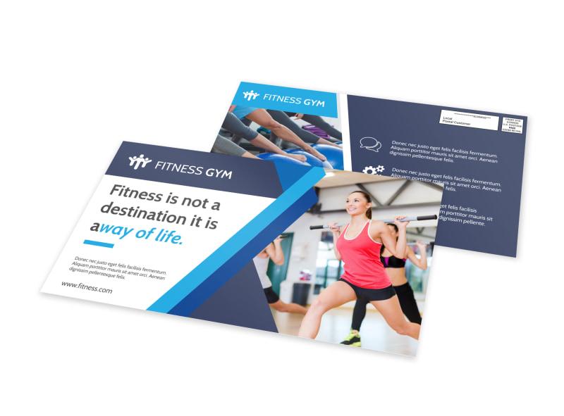Fitness Life EDDM Postcard Template