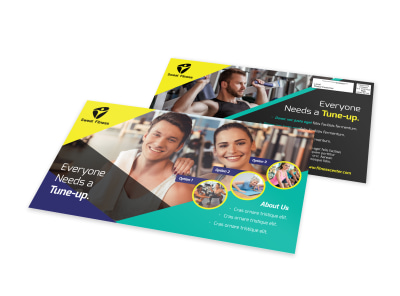 Fitness Gym EDDM Postcard Template preview