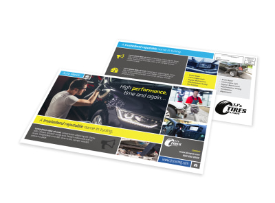 Trusted Automotive EDDM Postcard Template preview