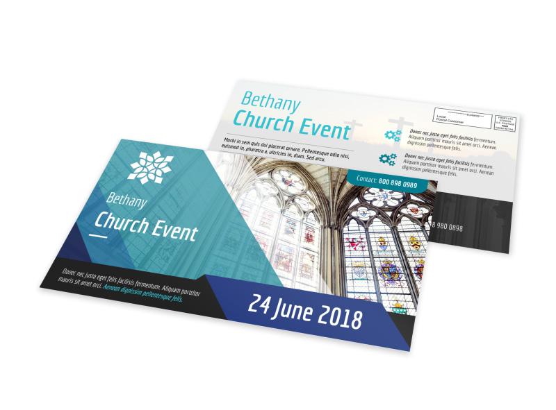 Church Event EDDM Postcard Template