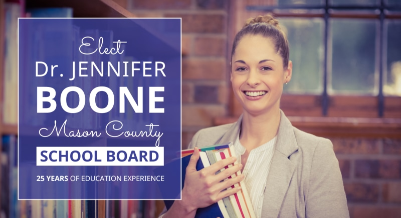School Board Election EDDM Postcard Template Preview 2