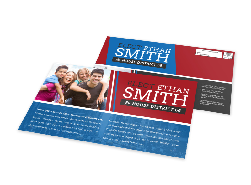 Friendly Political EDDM Postcard Template