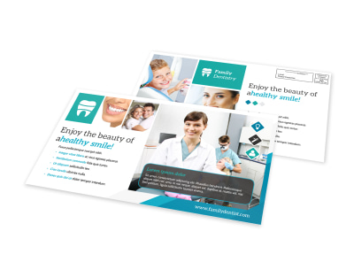 Healthy Smile Dental EDDM Postcard Template preview