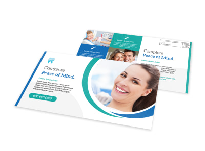 Peace Of Mind Dental EDDM Postcard Template preview