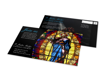 Classic Church EDDM Postcard Template preview