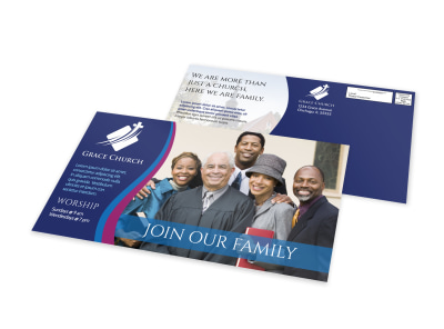 Church Outreach Postcard Template preview