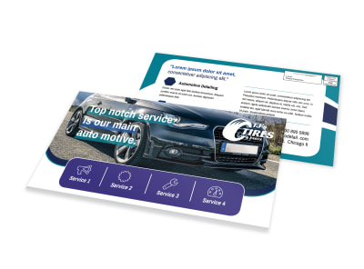 Top Notch Automotive EDDM Postcard Template preview
