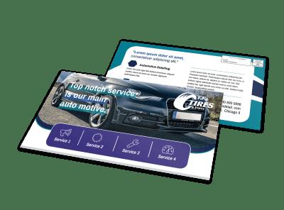 Auto EDDM Postcards Template Preview