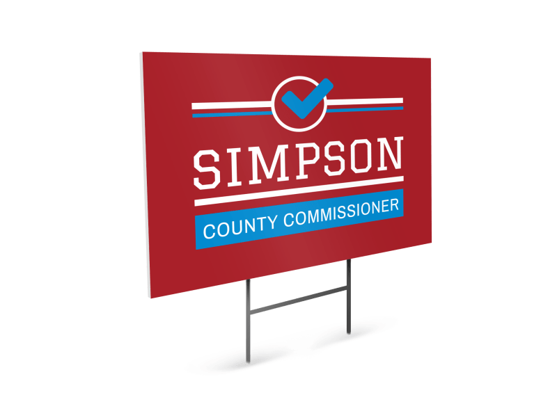Commissioner Political Yard Sign Template Preview 1