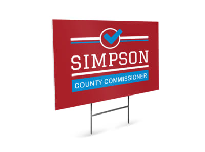 Commissioner Political Yard Sign Template preview