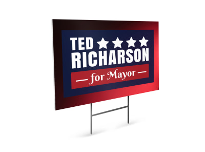 Mayor Political Yard Sign Template preview