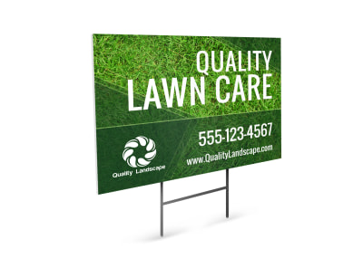 Lawn Care Yard Sign Template lw8y2awnt5 preview